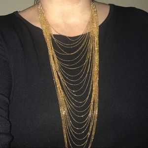 Jewelry - ✅Make An Offer✅Gold Cascading Necklace, 26 strands